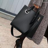 女包2019新款時尚女士單肩側背包寬帶韓版大包包女手提包簡約大氣 依凡卡時尚
