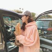 連帽連帽T恤女秋冬韓版寬鬆學生bf純色中長款長袖外套 卡卡西