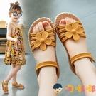 女童涼鞋時尚夏季中大童公主鞋軟底沙灘鞋子【淘嘟嘟】