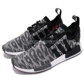 adidas NMD_R1 PK 黑 紅 白底 Primeknit 鞋面 休閒鞋 慢跑鞋 男鞋【PUMP306】 CQ2444