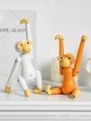 北歐ins創意木質猴子擺件臥室桌面家居裝飾品可愛卡通懸掛小擺設 618購物節