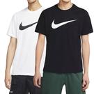 Nike Nsw Tee Icon Swoosh 男女 黑白 運動 短袖 上衣DC5095-100 DC5095-010