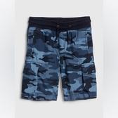 Gap男幼棉質迷彩設計鬆緊腰短褲541846-藍色迷彩