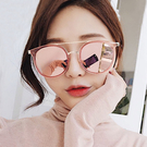 太陽眼鏡 韓國網紅復古雙梁大圓框墨鏡【O3309】☆雙兒網☆