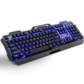 機械手感金屬背光游戲有線鍵盤台式電腦筆記本USB吃雞LOL  極客玩家  igo