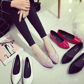 韓版女鞋子學生舒適百搭平底小皮鞋工作鞋女黑色單鞋消費滿一千現折一百