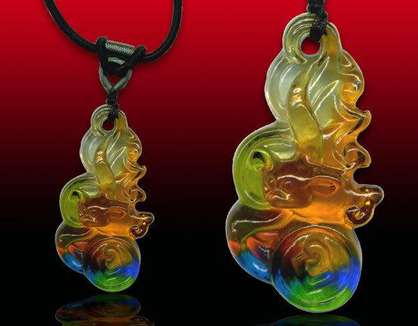 鹿港窯~居家開運水晶琉璃項鍊~福在眼前 附精美包裝◆免運費送到家