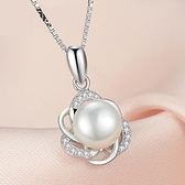 項鍊 925純銀珍珠吊墜-氣質百搭生日情人節禮物女飾品73fy62【時尚巴黎】