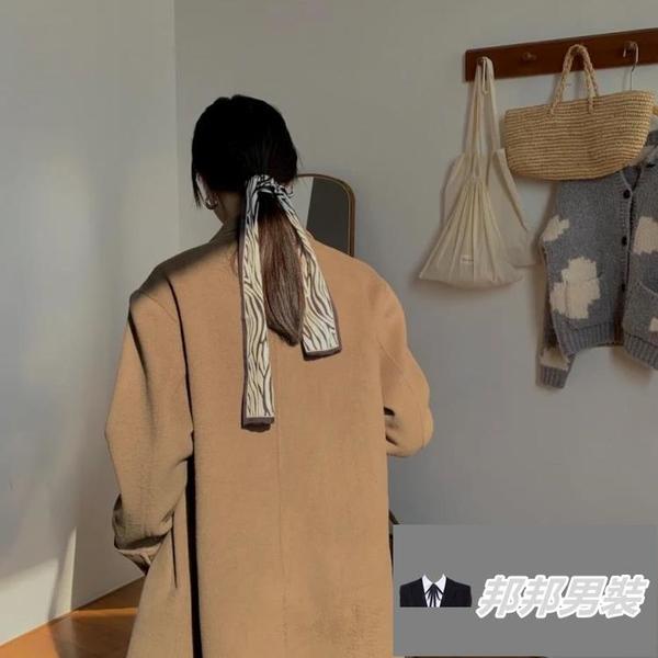 【2條裝】蝴蝶結髮繩馬尾頭繩綁髮絲帶髮帶絲巾飄帶髮圈【邦邦男裝】