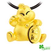 幸運草金飾-小富雞-黃金墜子  開運 招財