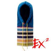 EX2 中性 民族風多功能圍脖 (章藍) 632619 防寒面罩 造型帽 遮陽帽 毛帽 面罩 圍脖V