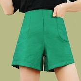 闊腿短褲女春夏韓百搭高腰a字顯瘦西裝熱褲外穿寬鬆休閒短褲 韓國時尚週