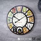 歐式 英倫風 大型 時鐘 LONDON 倫敦 復古經典 立體造型 木質 靜音 大尺寸 時鐘-米鹿家居