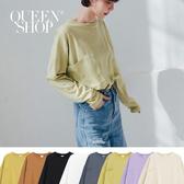 Queen Shop【01038203】基本百搭素色棉T 八色售*現+預*