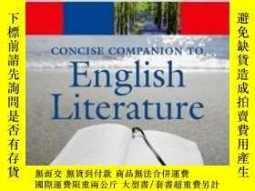 二手書博民逛書店The罕見Concise Oxford Companion To