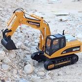 大號遙控無線電動合金挖掘機挖土機仿真工程鏟車模型兒童充電玩具 NMS名購新品
