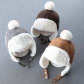 寶寶帽子秋冬季嬰兒護耳帽男童潮兒童雷鋒帽0正韓1-3歲2小孩4男孩