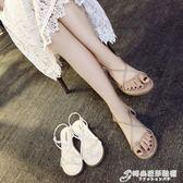 涼鞋女夏百搭韓版原宿風平底夾腳ins女鞋新款學生簡約羅馬鞋 時尚芭莎