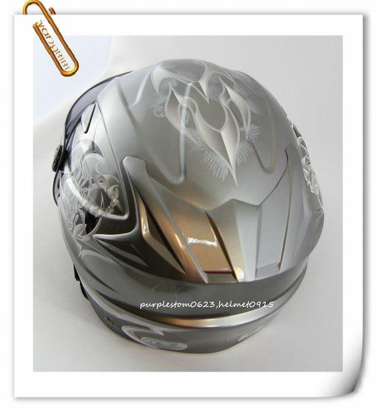 林森●M2R安全帽,半罩,雪帽,SP11,SP-11,內襯可拆洗,彩繪,蠍子,鈦