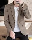 休閒西裝男套裝修身韓版秋冬厚款小西服上衣帥氣外套男裝搭配一套 黛尼時尚精品