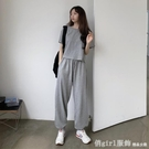 套裝 夏季韓版2021新款寬鬆短款俏皮減齡運動休閒短袖T恤女時尚兩件套 俏girl