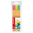 STABILO 樂點88多用途細緻彩繪筆 6色塑料袋(霓虹色系)