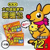 [輸碼Yahoo88抵88元]日本熱銷 暖暖包 袋鼠家族  黏貼式 暖暖貼 12小時 一片入 懷爐 熱貼