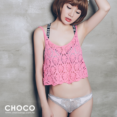 Choco Shop-失戀巧克力‧萊卡高質感透膚內褲(粉色) S~L