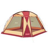 【早點名露營生活館】Coleman圓頂網屋/勃根地380 CM-27291