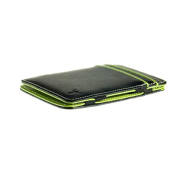 RFID防盜真皮魔術錢夾-綠色