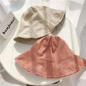 夏季水洗做舊毛邊漁夫帽 防曬折疊便攜遮陽帽【多多鞋包店】m365