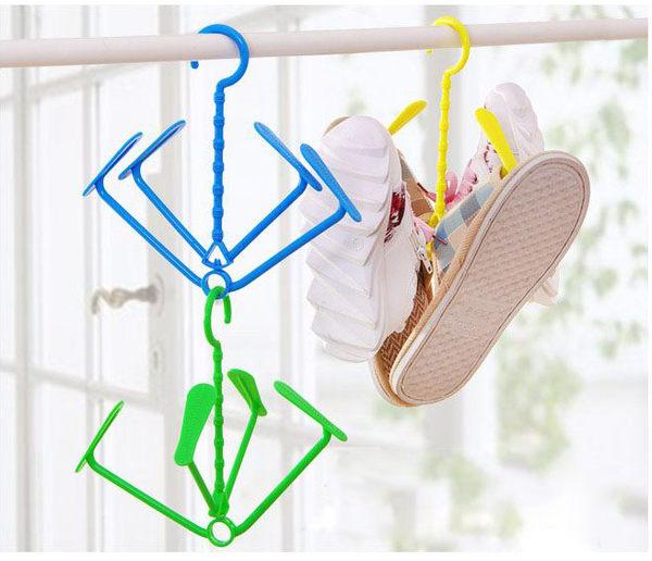 【曬鞋架】居家陽台可旋轉式晒鞋架 活動式掛鞋架 可疊掛衣架 曬襪架 晾鞋架