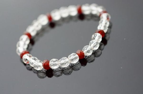 紅玉髓&白水晶:集合所有寶石的力量,據說有助於重燃信心,維持心情平靜,改善負向磁場。A97