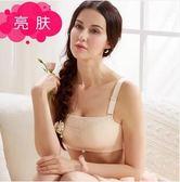 夏季性感女士無鋼圈蕾絲聚攏薄款防走光抹胸式文胸SJ686『時尚玩家』
