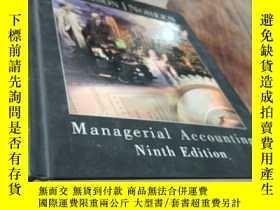 二手書博民逛書店garrison罕見noreen managerial accounting ninth edition 16開精