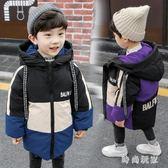 男童羽絨外套 中大尺碼男童加厚外套新款兒童羽絨棉服寶寶中長款棉襖OB760『時尚玩家』