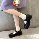 娃娃鞋 2021春秋復古粗高跟瑪麗珍大頭鞋女網紅同款學院風小皮鞋娃娃單鞋 非凡小鋪 新品