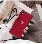 情侶潮玻璃鏡面IPhone 11pro 手機套 iphone 11個性創意保護套 蘋果11pro Max全包防摔簡約手機殼