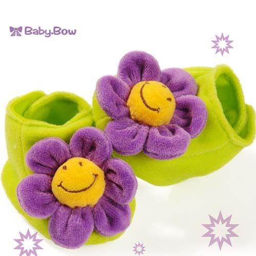 新生兒寶寶鞋襪  澳洲baby bow-紫花花鞋襪(0-6個月)