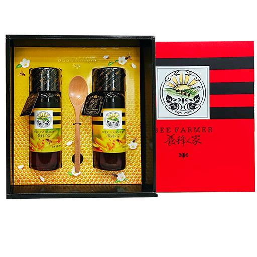 黃金流蜜禮盒禮盒-皇家金鐉蜂蜜425g(2瓶),特惠88折【養蜂人家】