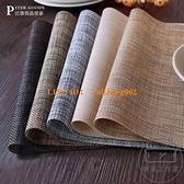 【買1送1】日式餐墊 家用隔熱PVC餐桌墊碗墊餐布西餐墊杯墊【輕派工作室】