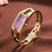 手錶 時尚潮流行女士手鐲腕錶 簡約休閒石英防水電子錶 韓國版配飾手錶 小宅女大購物