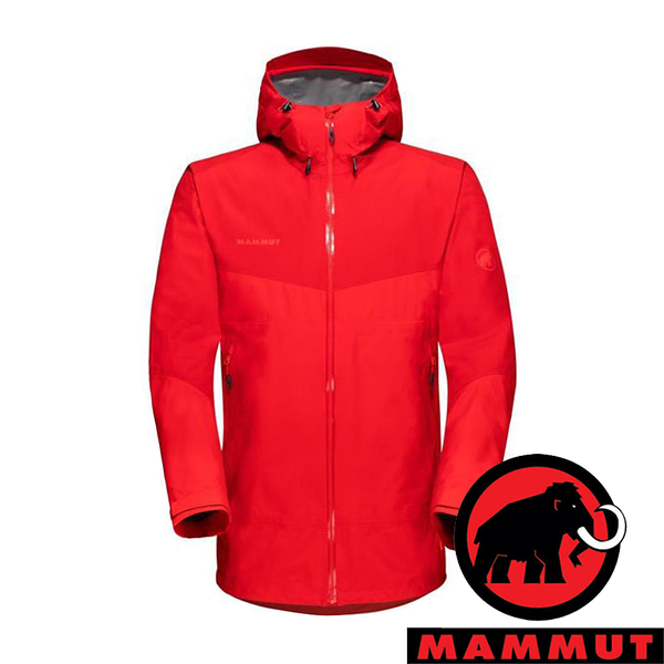 【MAMMUT 長毛象】Convey 男 GT單件式連帽外套『辛辣紅』1010-28450 戶外 外套 冬季 保暖 禦寒