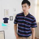 【大盤大】(P76108) 男 短袖POLO衫 台灣製 MIT 橫條紋保羅衫 休閒衫 上班 商務【僅剩M和L號】