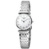 LONGINES 浪琴 嘉嵐系列限量鑽錶-鑽面/24mm L42094876