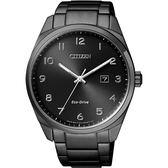 CITIZEN Eco-Drive 光動能經典簡約腕錶-黑/42mm BM7325-83E