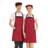 圍裙正韓時尚男士定制圍裙廚房家居咖啡奶茶店工作服餐廳廚師圍裙【快速出貨】