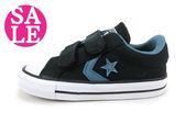 All STAR★Converse 小童鞋 帆布鞋 星星魔鬼氈休閒鞋 零碼出清 G9876#黑 ◆OSOME奧森童鞋