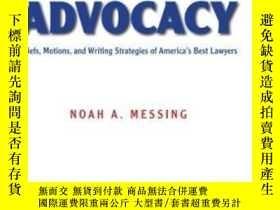 二手書博民逛書店The罕見Art Of Advocacy-宣傳的藝術Y436638 Noah A. Messing Aspen