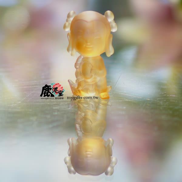 鹿港窯-居家開運水晶琉璃擺飾-Q版好神公仔~哪吒三太子 _行車達人